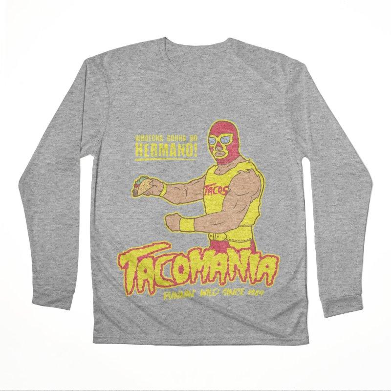 Tacomania Funny Taco Wrestling Luchador Women's Performance Unisex Longsleeve T-Shirt by Wasabi Snake