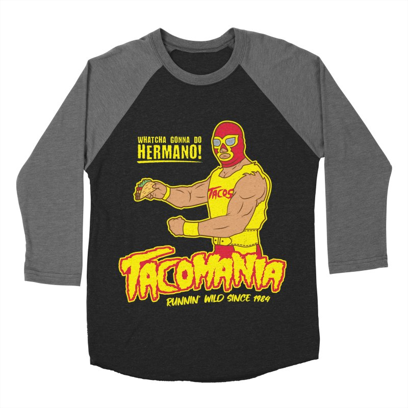 Tacomania Funny Taco Wrestling Luchador Women's Longsleeve T-Shirt by Wasabi Snake