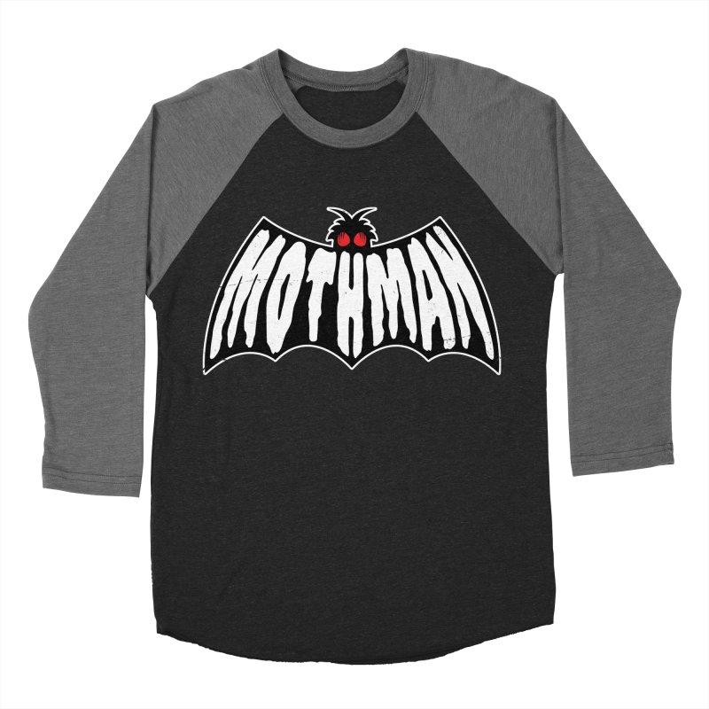 Mothman Women's Baseball Triblend Longsleeve T-Shirt by Wasabi Snake