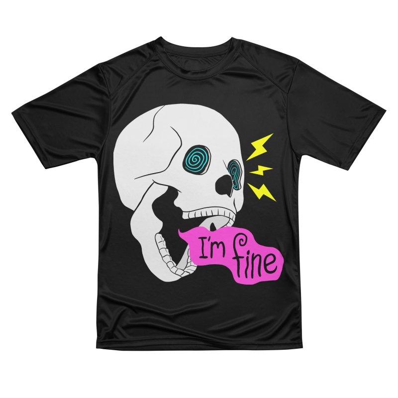 I'm Fine Skull Men's T-Shirt by Wasabi Snake