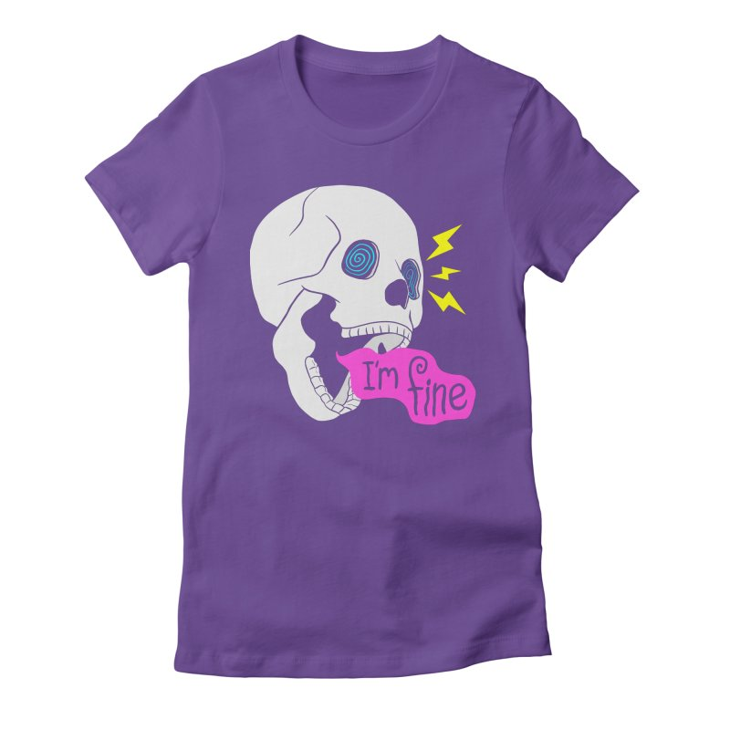 I'm Fine Skull Women's T-Shirt by Wasabi Snake
