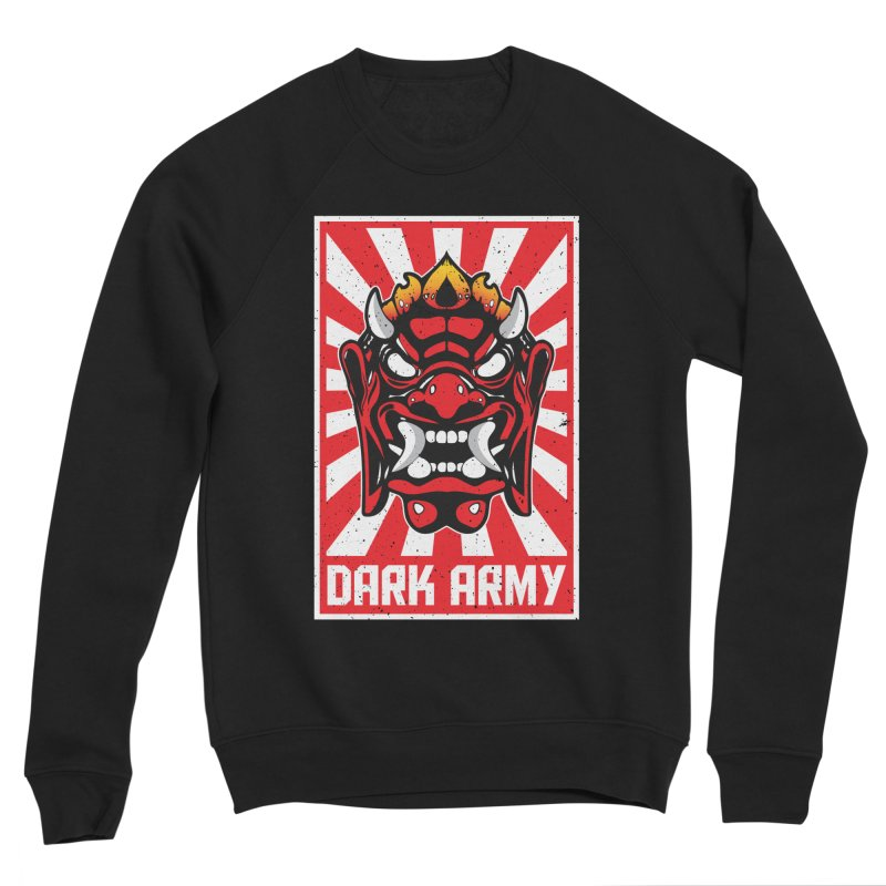 Dark Army Hacking Group Men's Sponge Fleece Sweatshirt by Wasabi Snake