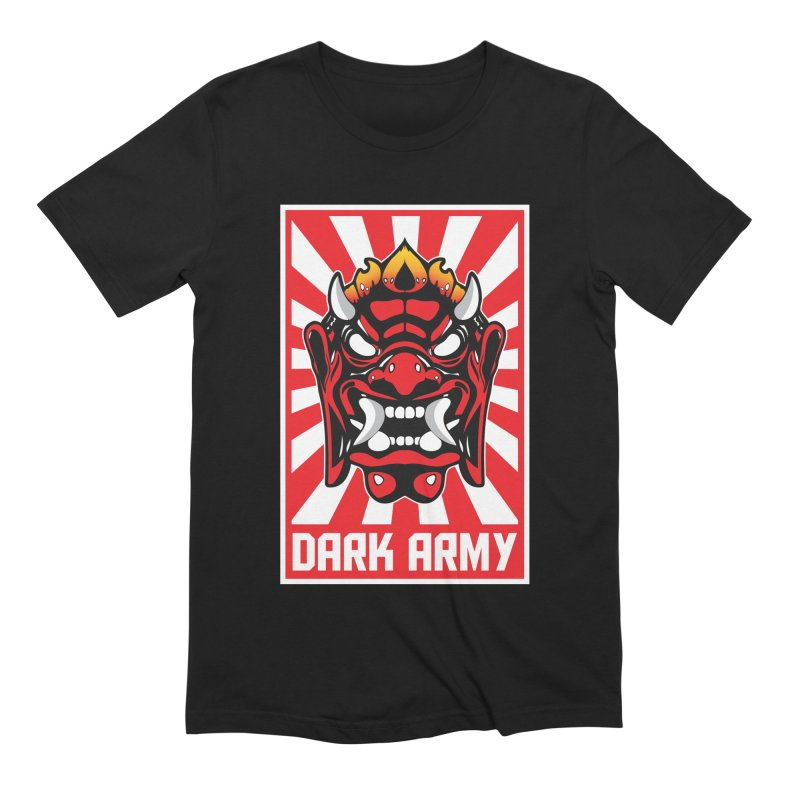 Dark Army Hacking Group Men's Extra Soft T-Shirt by Wasabi Snake