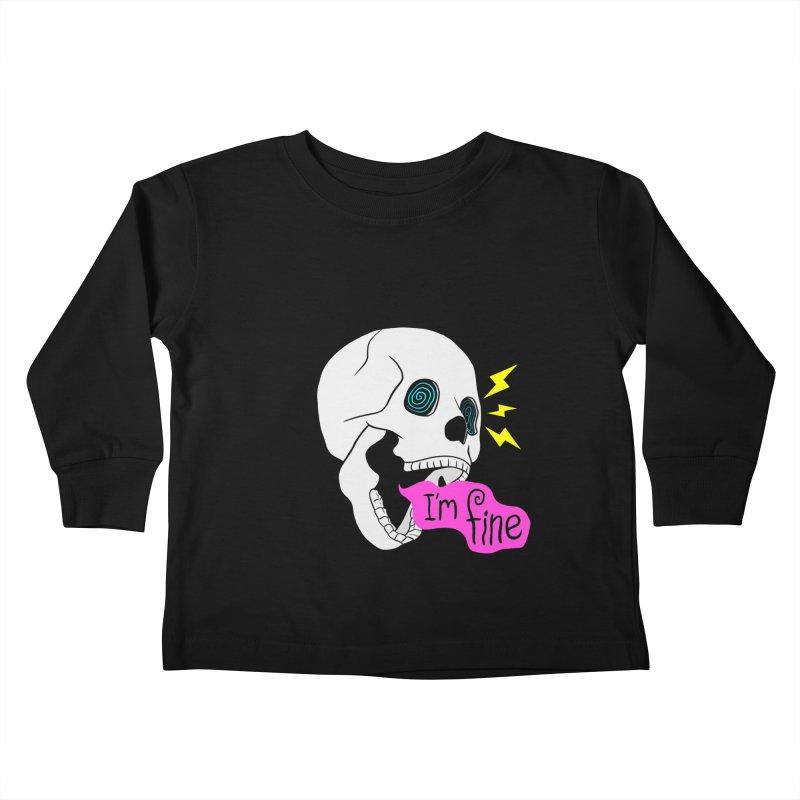 I'm Fine Kids Toddler Longsleeve T-Shirt by Wasabi Snake