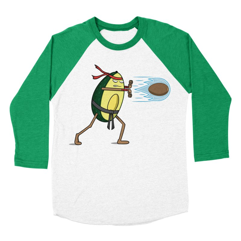 Avocadoken Women's Baseball Triblend Longsleeve T-Shirt by Wasabi Snake