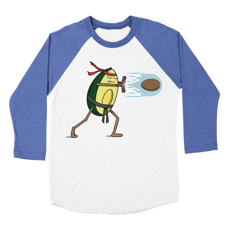 Avocadoken Men's Baseball Triblend Longsleeve T-Shirt by Wasabi Snake