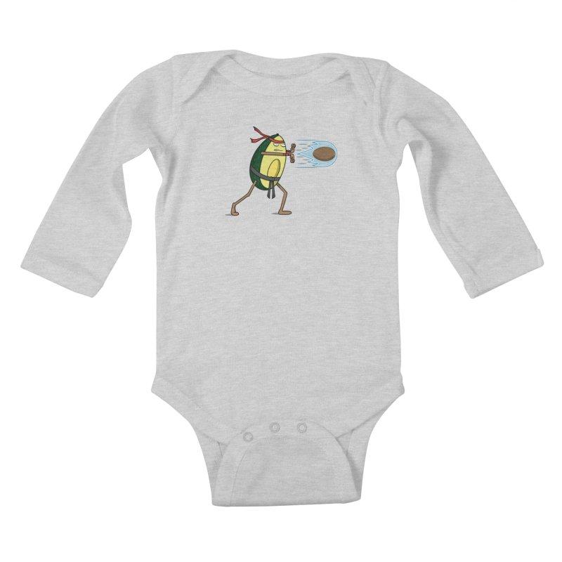 Avocadoken Kids Baby Longsleeve Bodysuit by Pete Styles' Artist Shop