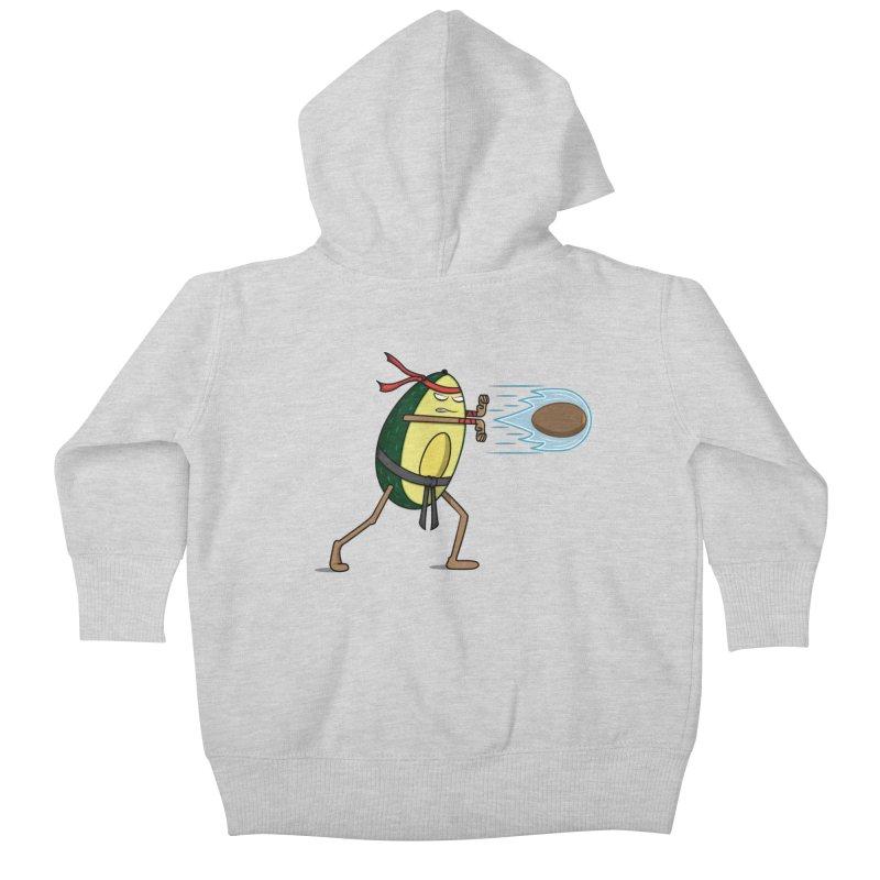 Avocadoken Kids Baby Zip-Up Hoody by Wasabi Snake