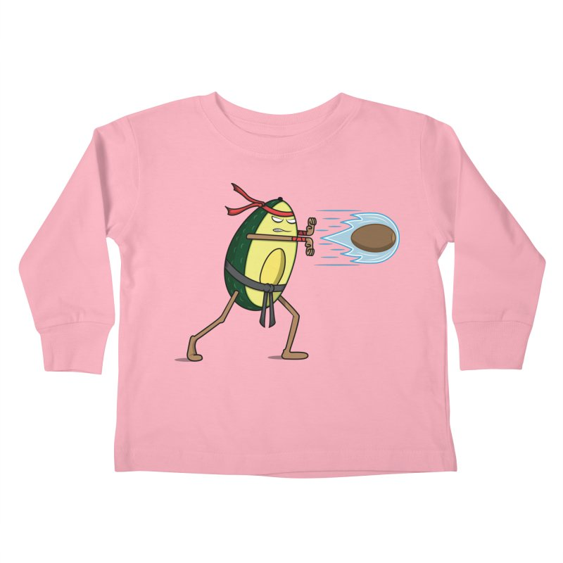 Avocadoken Kids Toddler Longsleeve T-Shirt by Wasabi Snake