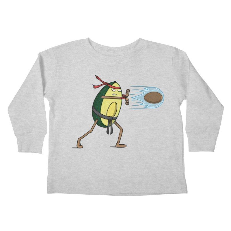 Avocadoken Kids Toddler Longsleeve T-Shirt by Wasabi Snake