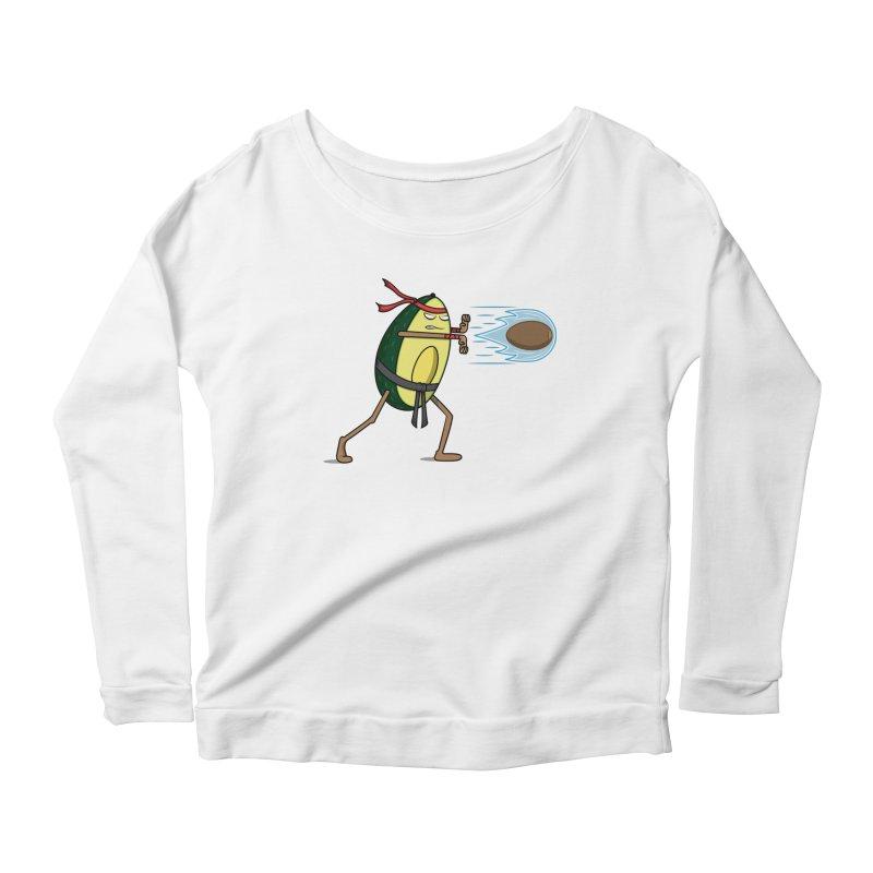 Avocadoken Women's Scoop Neck Longsleeve T-Shirt by Wasabi Snake