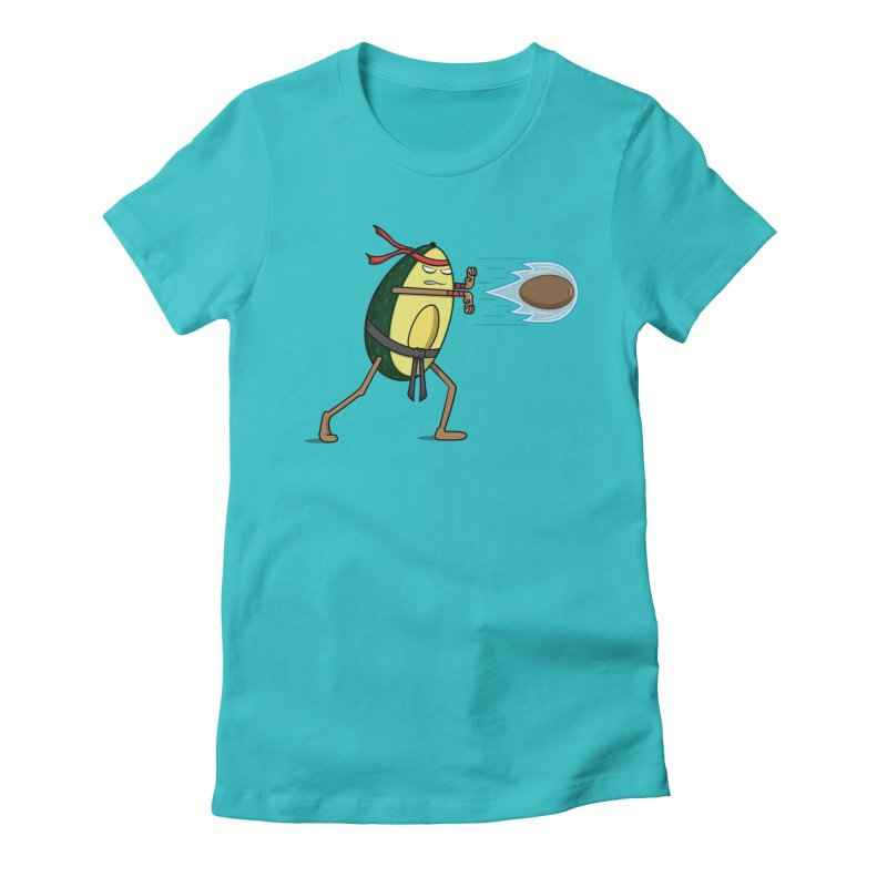 Avocadoken Women's Fitted T-Shirt by Pete Styles' Artist Shop