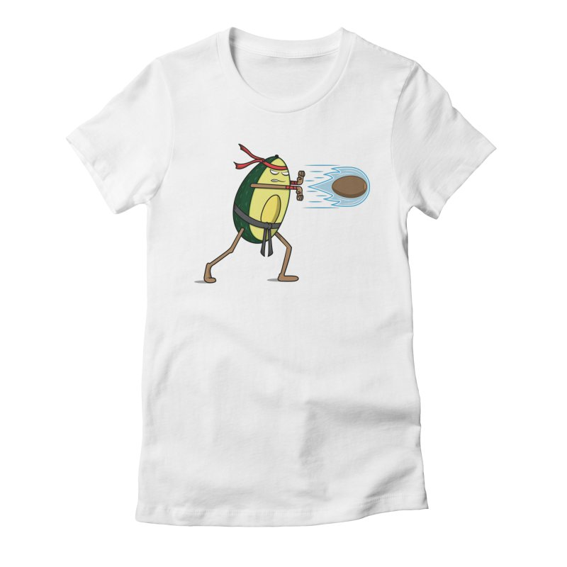Avocadoken Women's Fitted T-Shirt by Wasabi Snake