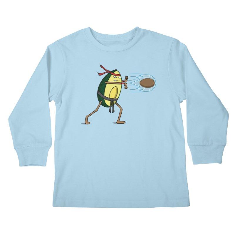 Avocadoken Kids Longsleeve T-Shirt by Wasabi Snake