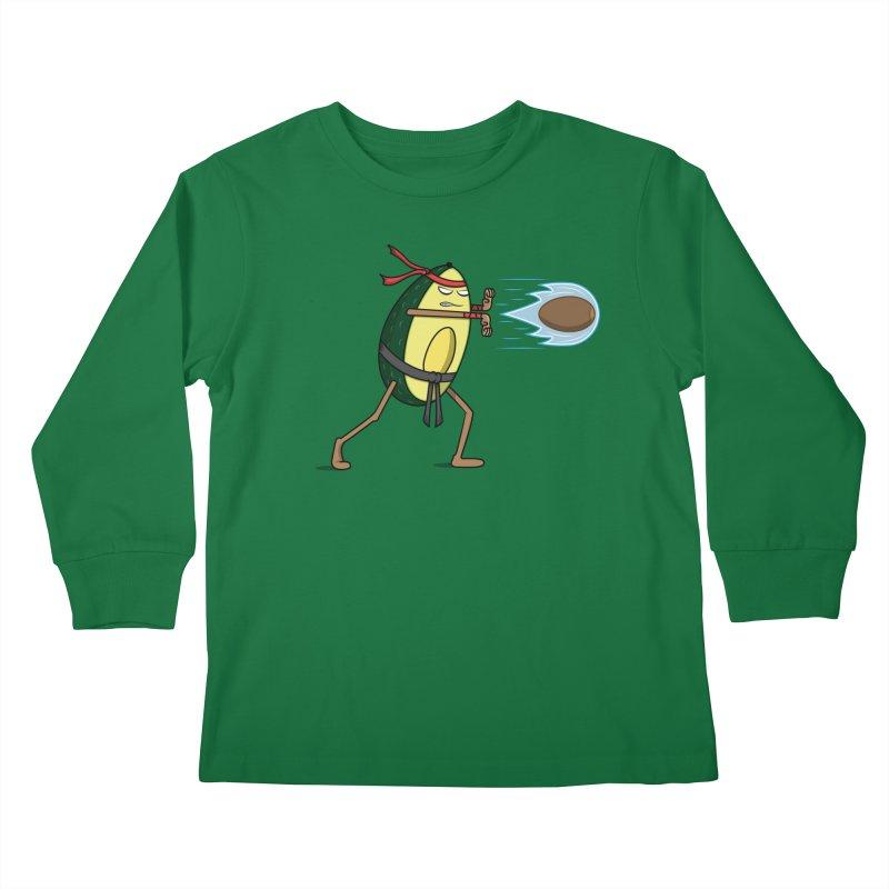 Avocadoken Kids Longsleeve T-Shirt by Pete Styles' Artist Shop