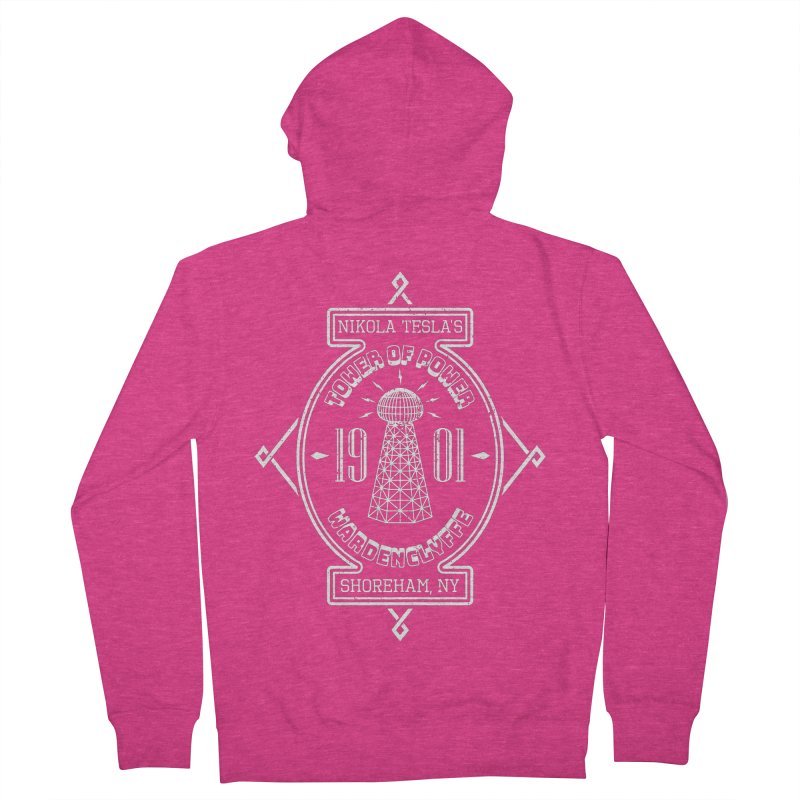 Tower Of Power Women's French Terry Zip-Up Hoody by Wasabi Snake