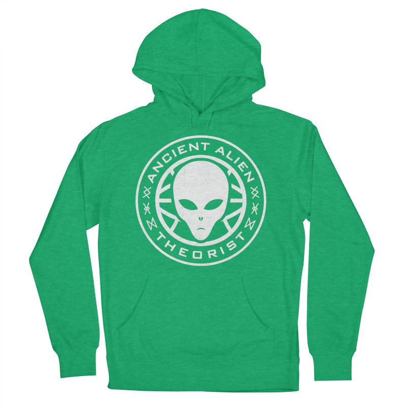 Ancient Alien Theorist Women's French Terry Pullover Hoody by Wasabi Snake