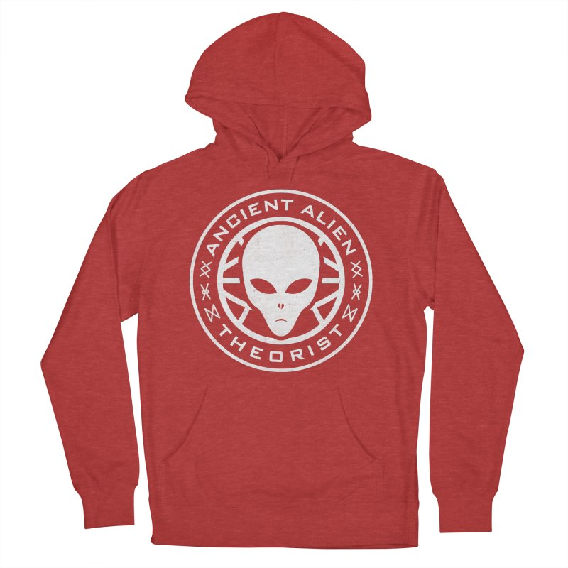 Ancient Alien Theorist Men's French Terry Pullover Hoody by Wasabi Snake