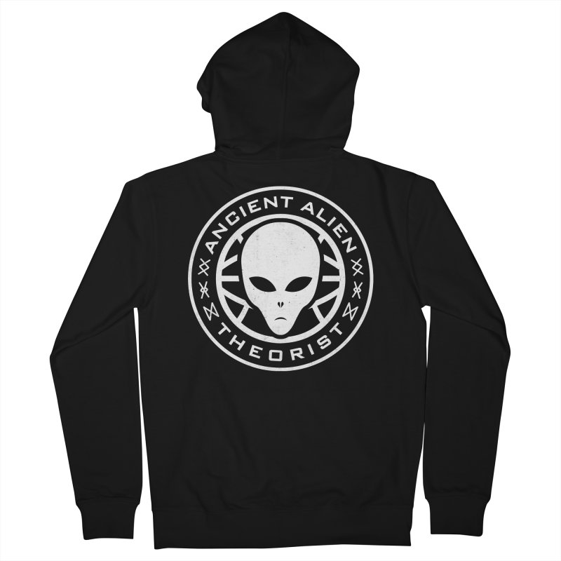 Ancient Alien Theorist Women's French Terry Zip-Up Hoody by Wasabi Snake