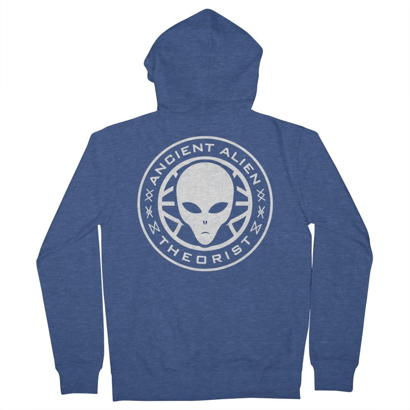 Ancient Alien Theorist Men's French Terry Zip-Up Hoody by Wasabi Snake