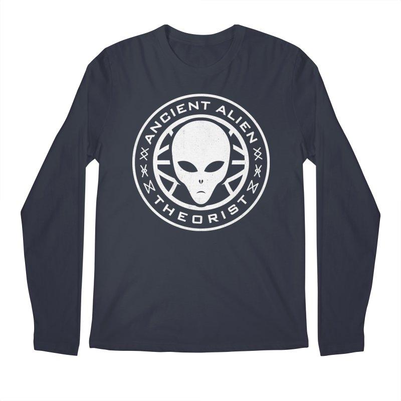 Ancient Alien Theorist Men's Regular Longsleeve T-Shirt by Wasabi Snake