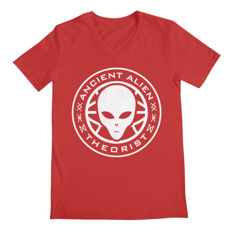 Ancient Alien Theorist Men's Regular V-Neck by Wasabi Snake