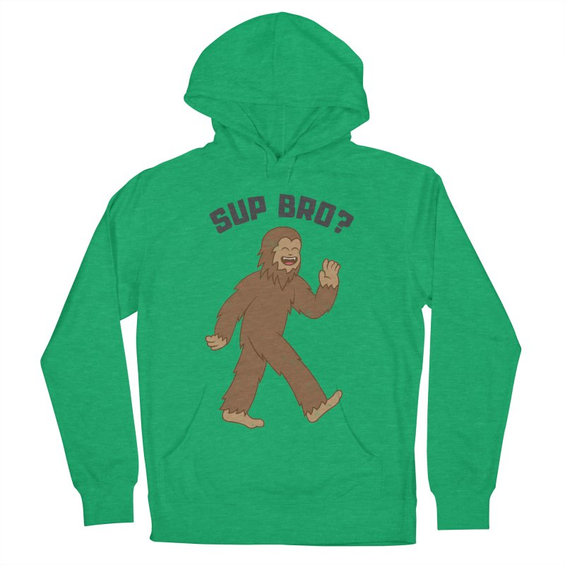 Sup Bigfoot Women's French Terry Pullover Hoody by Wasabi Snake