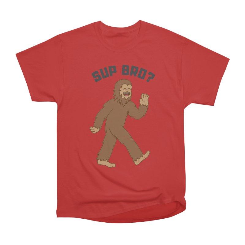 Sup Bigfoot Men's Heavyweight T-Shirt by Pete Styles' Artist Shop
