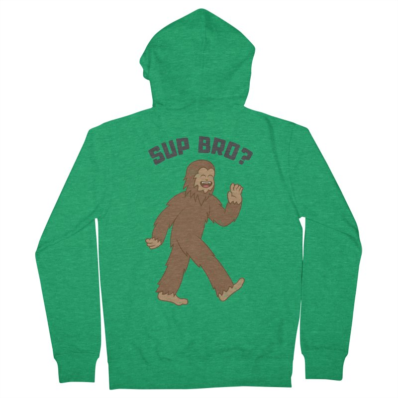 Sup Bigfoot Men's French Terry Zip-Up Hoody by Wasabi Snake