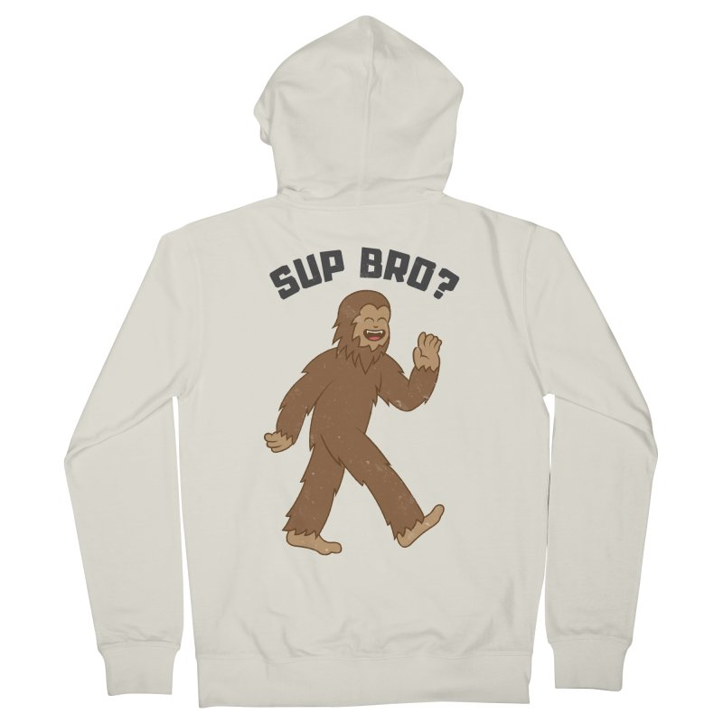 Sup Bigfoot Men's Zip-Up Hoody by Pete Styles' Artist Shop