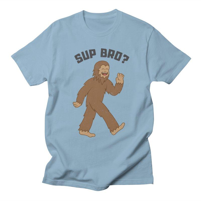 Sup Bigfoot Men's Regular T-Shirt by Wasabi Snake
