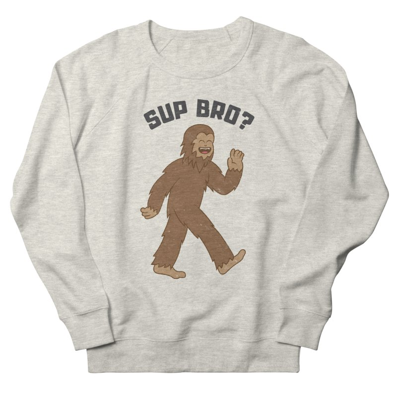 Sup Bigfoot Men's French Terry Sweatshirt by Wasabi Snake