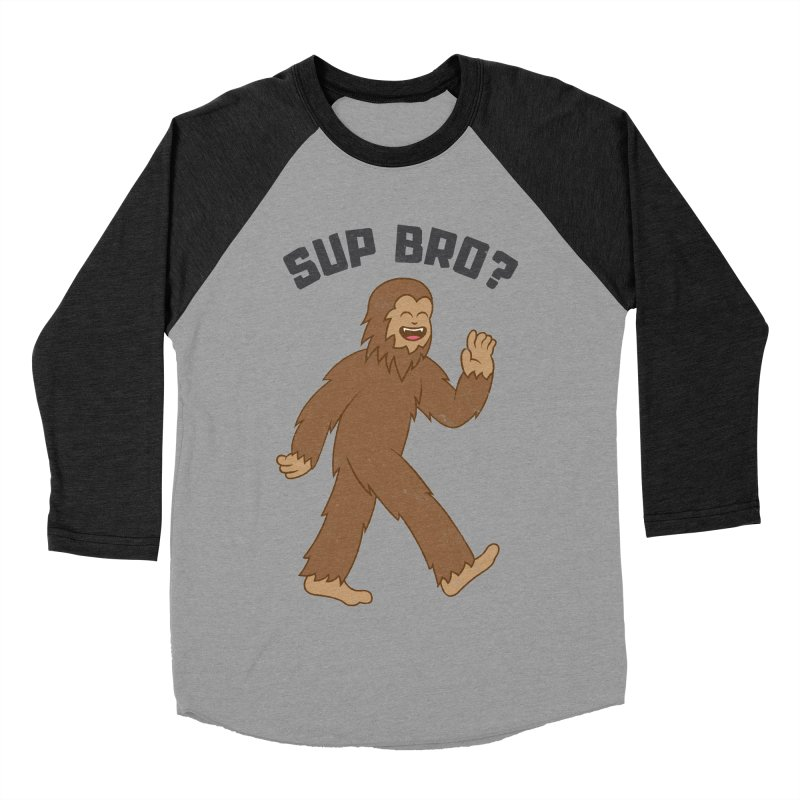 Sup Bigfoot Women's Baseball Triblend Longsleeve T-Shirt by Wasabi Snake