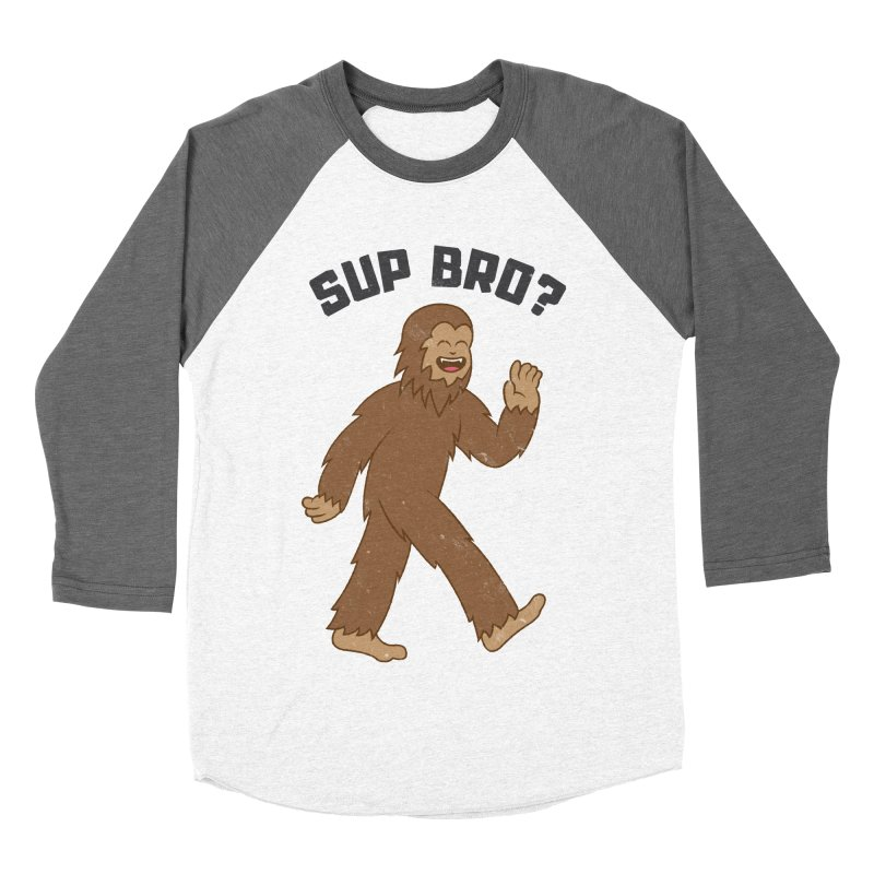 Sup Bigfoot Men's Baseball Triblend Longsleeve T-Shirt by Wasabi Snake