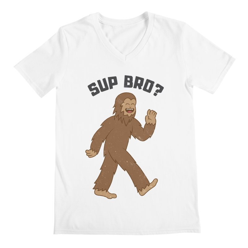 Sup Bigfoot Men's Regular V-Neck by Wasabi Snake
