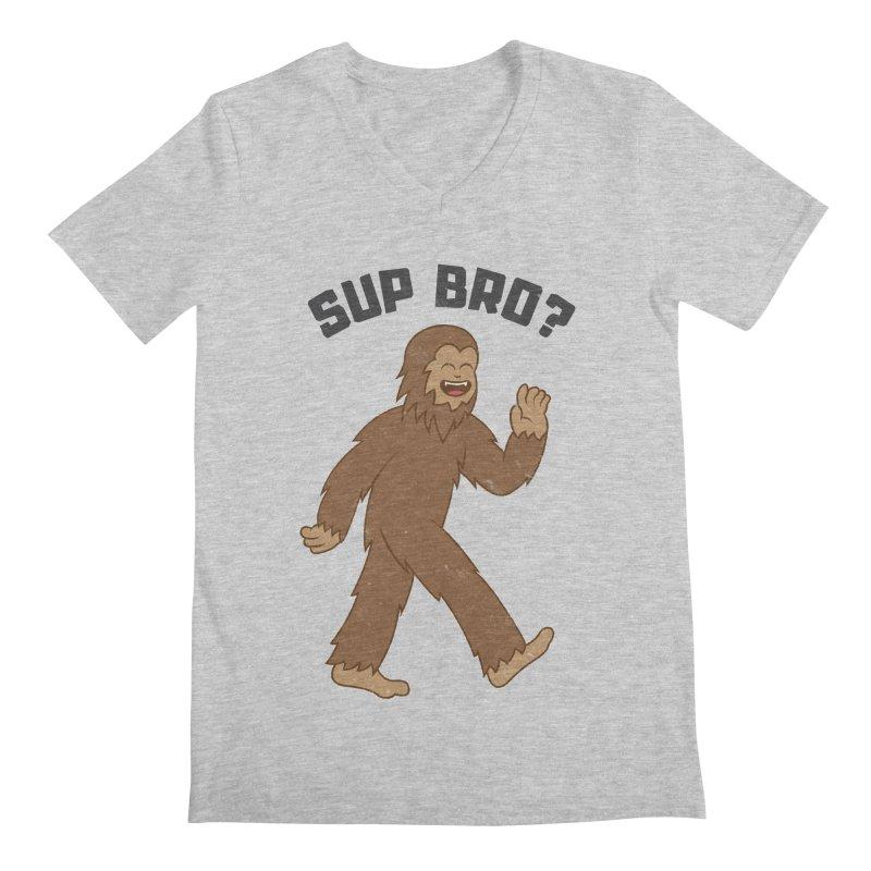 Sup Bigfoot Men's Regular V-Neck by Wasabi Snake