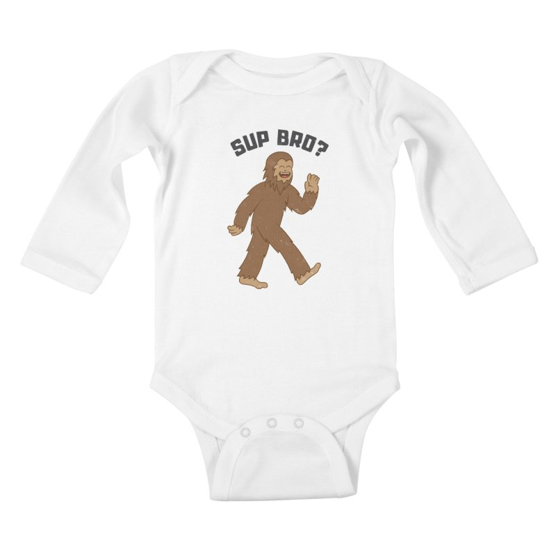 Sup Bigfoot Kids Baby Longsleeve Bodysuit by Wasabi Snake