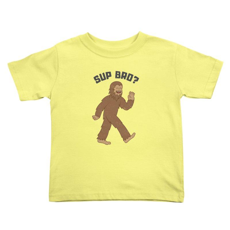 Sup Bigfoot Kids Toddler T-Shirt by Wasabi Snake
