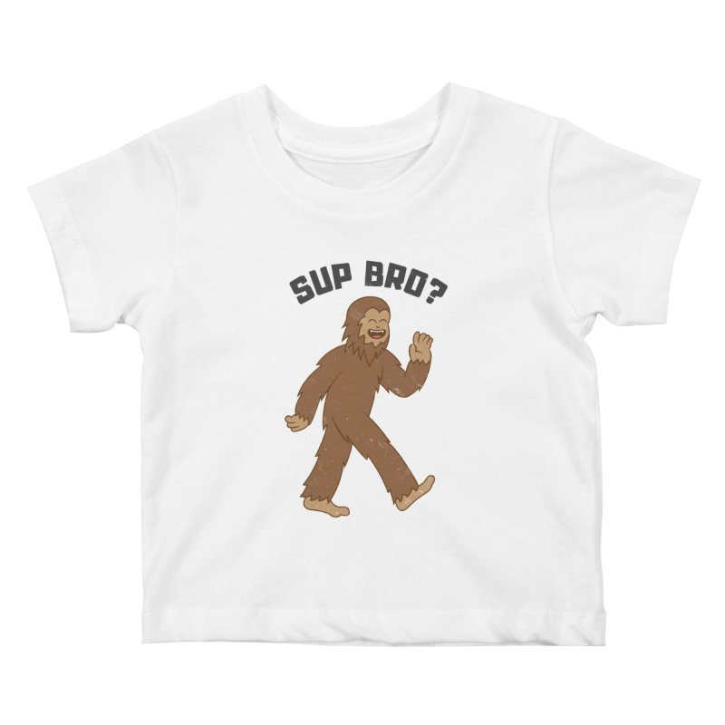 Sup Bigfoot Kids Baby T-Shirt by Wasabi Snake