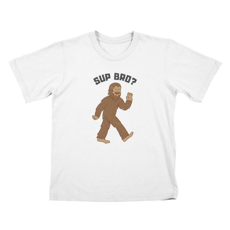 Sup Bigfoot Kids T-Shirt by Wasabi Snake
