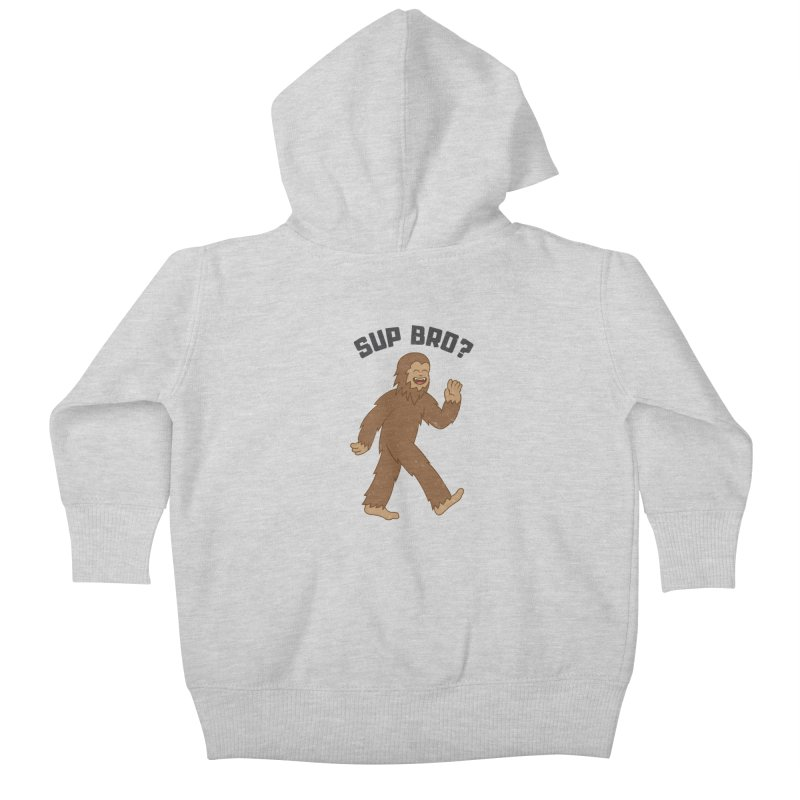 Sup Bigfoot Kids Baby Zip-Up Hoody by Wasabi Snake