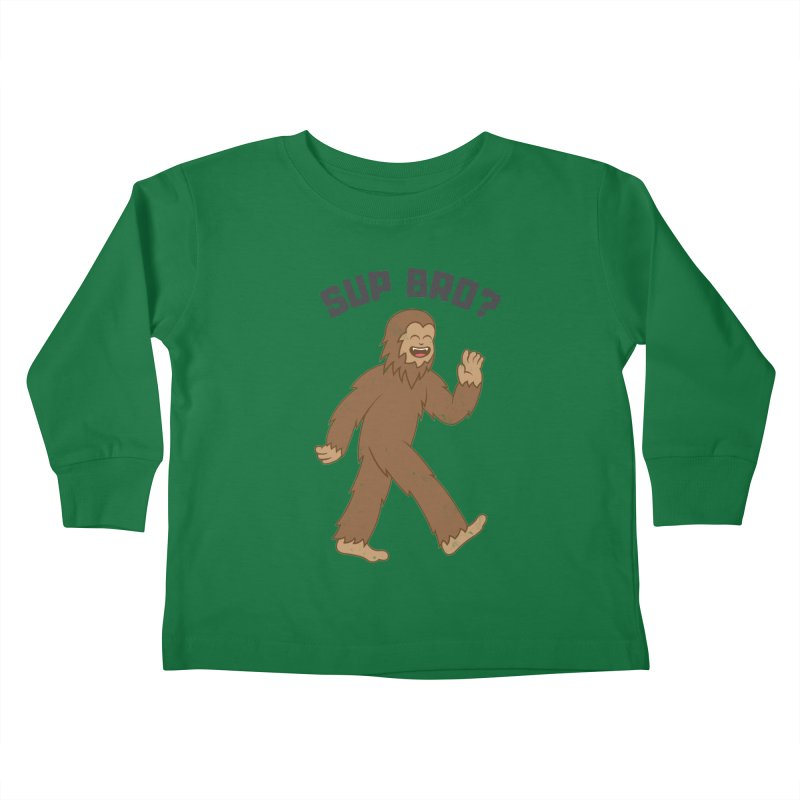 Sup Bigfoot Kids Toddler Longsleeve T-Shirt by Wasabi Snake
