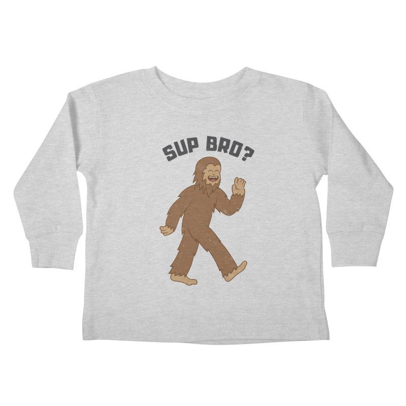 Sup Bigfoot Kids Toddler Longsleeve T-Shirt by Wasabi Snake