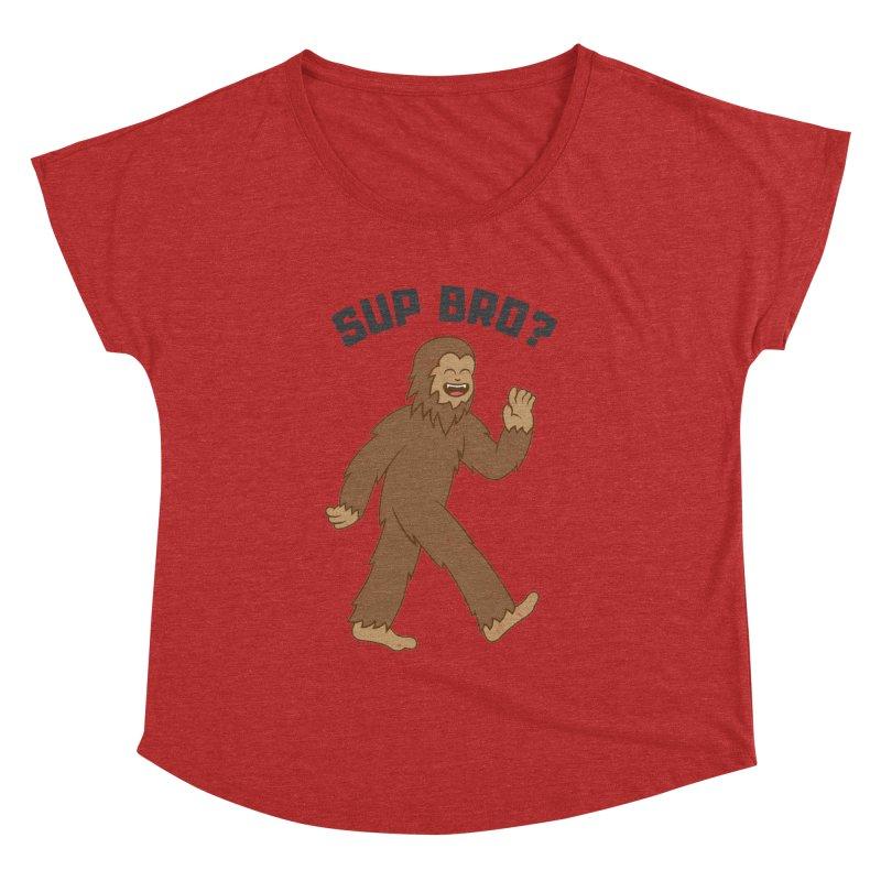 Sup Bigfoot Women's Dolman Scoop Neck by Wasabi Snake