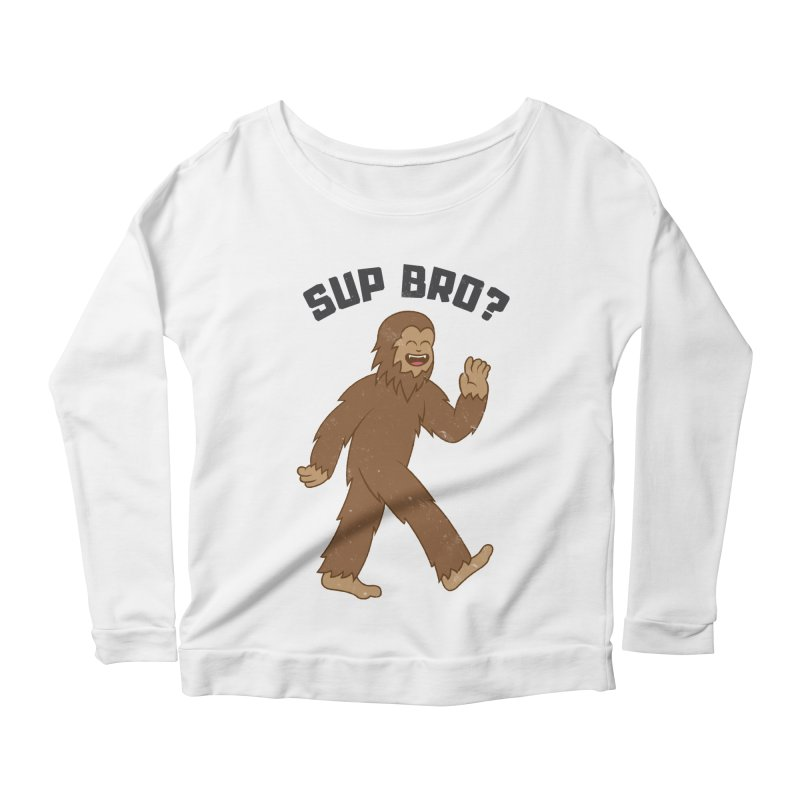 Sup Bigfoot Women's Scoop Neck Longsleeve T-Shirt by Wasabi Snake