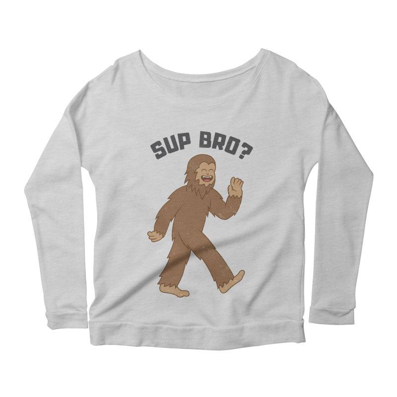 Sup Bigfoot Women's Scoop Neck Longsleeve T-Shirt by Wasabi Snake