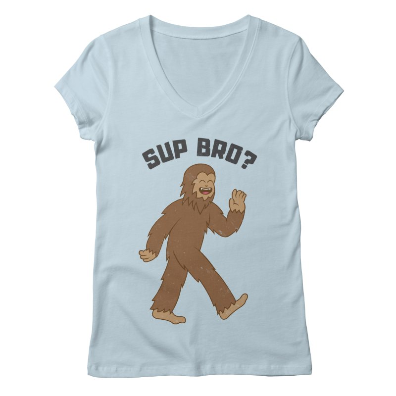 Sup Bigfoot Women's Regular V-Neck by Wasabi Snake