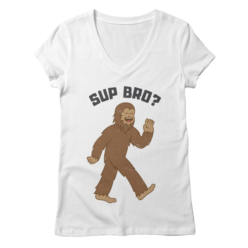Sup Bigfoot Women's Regular V-Neck by Wasabi Snake