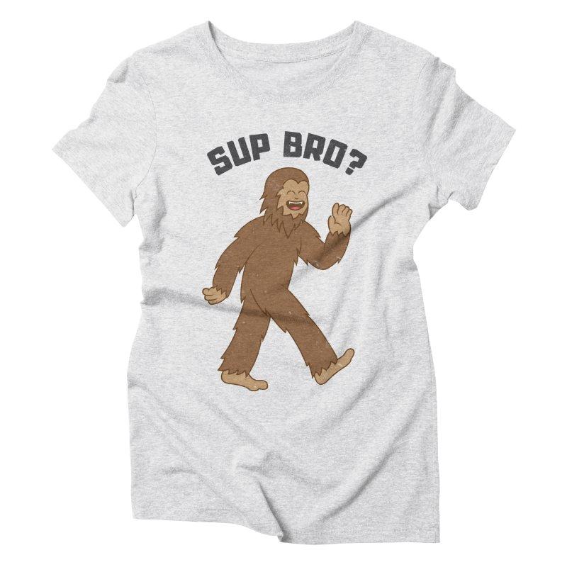 Sup Bigfoot Women's Triblend T-Shirt by Pete Styles' Artist Shop