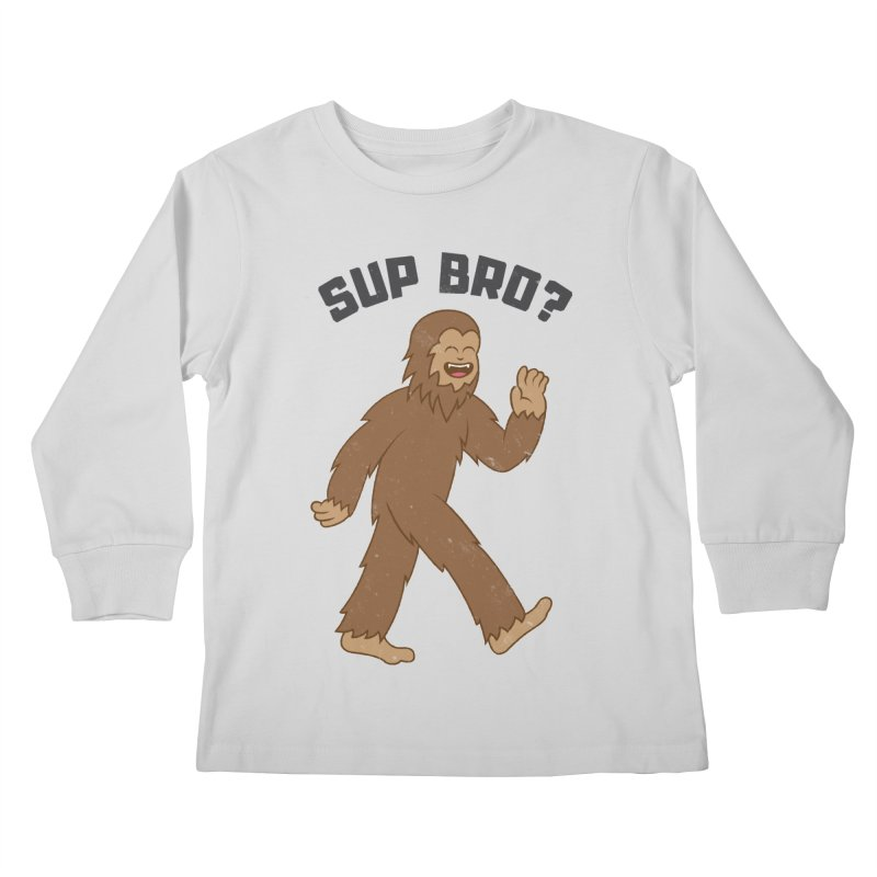 Sup Bigfoot Kids Longsleeve T-Shirt by Wasabi Snake